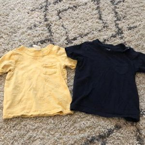 2 boys summer tees - sun print and navy blue